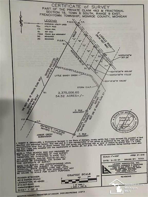 0 Lasalle Rd, Frenchtown Twp, MI 48162 (#57050058435) :: Alan Brown Group