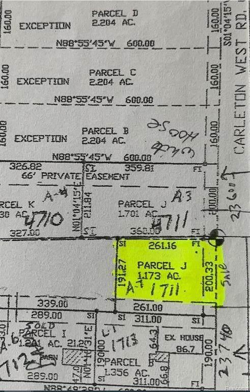 0000A Carleton West Road, Sumpter Twp, MI 48111 (MLS #2200032461) :: The Toth Team