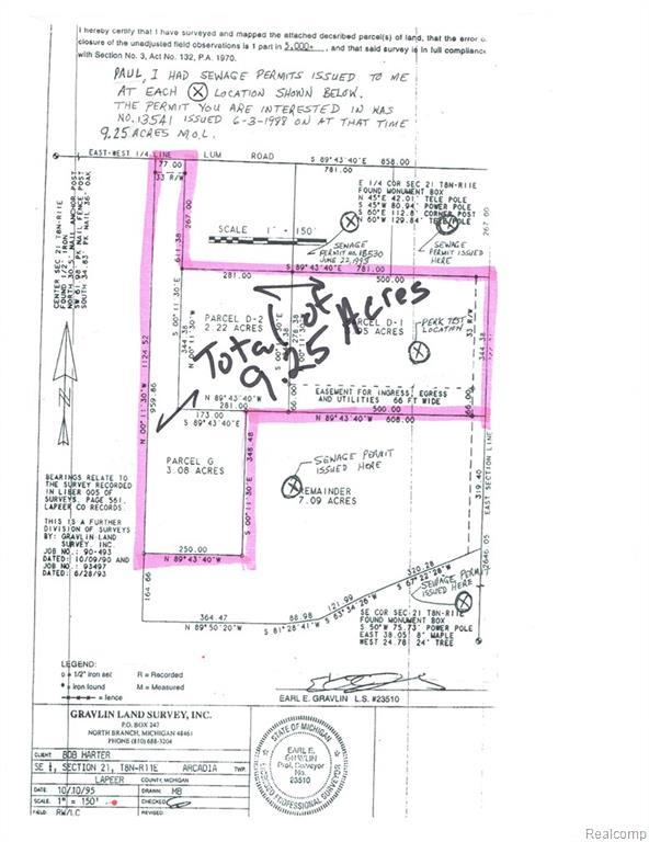 2205 N Lake Pleasant Road, Arcadia Twp, MI 48412 (#218096967) :: RE/MAX Classic