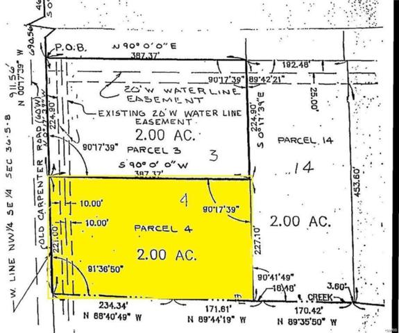 0 Fields Creek Lot 4, Edwardsville, IL 62025 (#18028286) :: Holden Realty Group - RE/MAX Preferred