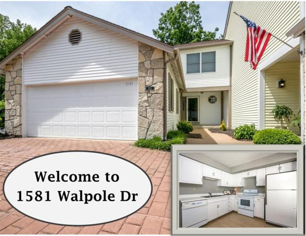 1581 Walpole Drive, Chesterfield, MO 63017 (#19037715) :: The Kathy Helbig Group