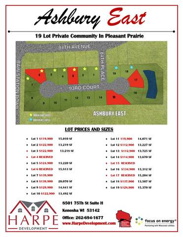 Lt9 Ashbury East, Pleasant Prairie, WI 53158 (#1748122) :: Keller Williams Realty - Milwaukee Southwest