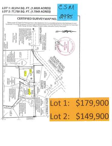 Lot1 226th Ct, Salem Lakes, WI 53168 (#1764624) :: Re/Max Leading Edge, The Fabiano Group