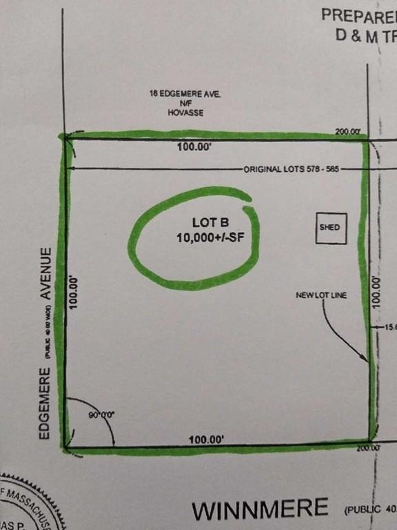 Lot B 12 Winmere Ave, Burlington, MA 01803 (MLS #72229491) :: Kadilak Realty Group at RE/MAX Leading Edge