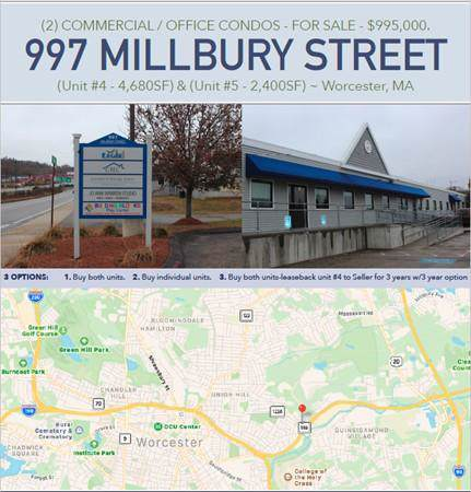 997 Millbury Street #5, Worcester, MA 01607 (MLS #72599515) :: revolv