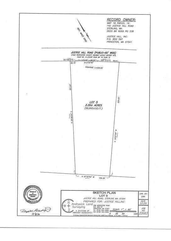 Lot 5 Justice Hill Rd., Sterling, MA 01564 (MLS #72688058) :: Spectrum Real Estate Consultants
