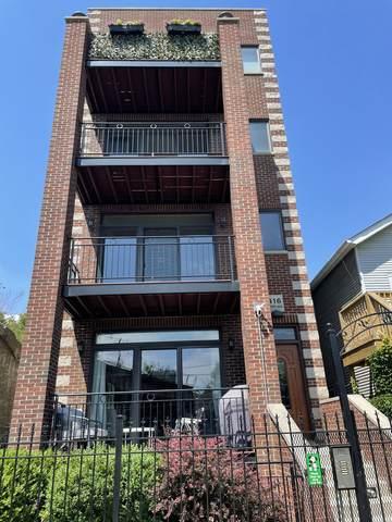 416 N Ada Street #3, Chicago, IL 60622 (MLS #11228795) :: BN Homes Group