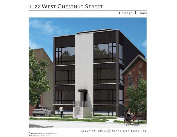 1122 W Chestnut Street 3W, Chicago, IL 60642 (MLS #09878410) :: Berkshire Hathaway Koenig Rubloff - Carroll Real Estate Group
