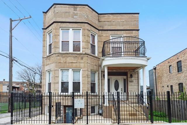 2416 N Fairfield Avenue #2, Chicago, IL 60647 (MLS #10423163) :: The Perotti Group | Compass Real Estate