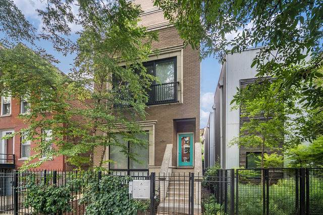 1406 W Ohio Street #1, Chicago, IL 60642 (MLS #10454653) :: The Perotti Group | Compass Real Estate