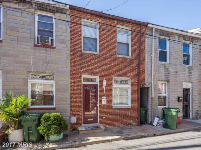 412 Madeira Street S, Baltimore, MD 21231 (#BA10083323) :: The Sebeck Team of RE/MAX Preferred