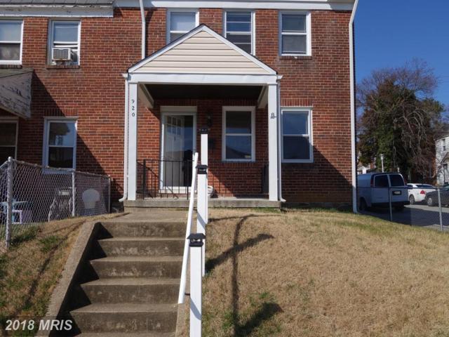 920 Lyndhurst Street, Baltimore, MD 21229 (#BA10180474) :: SURE Sales Group