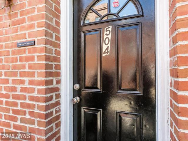 504 Wyeth Street, Baltimore, MD 21230 (#BA10320088) :: SURE Sales Group