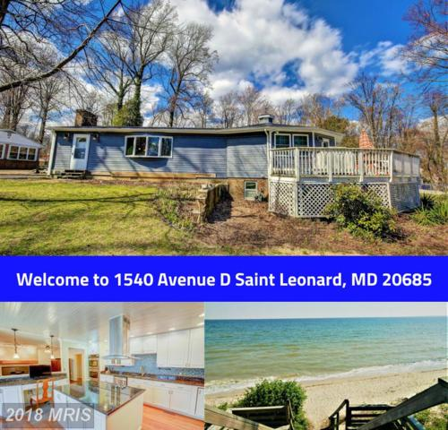 1540 Avenue D, Saint Leonard, MD 20685 (#CA10106265) :: The Maryland Group of Long & Foster
