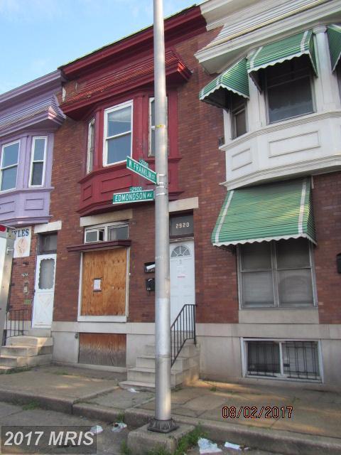 2920 Edmondson Avenue, Baltimore, MD 21223 (#BA10054222) :: Pearson Smith Realty