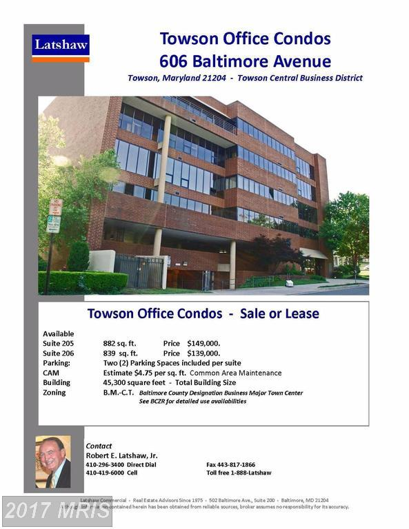 606 Baltimore Avenue 205 AND 206, Towson, MD 21204 (#BC10009265) :: The MD Home Team