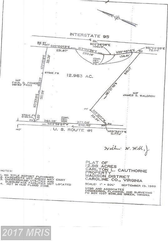 0 Jefferson Davis, Ruther Glen, VA 22546 (#CV10058138) :: Green Tree Realty