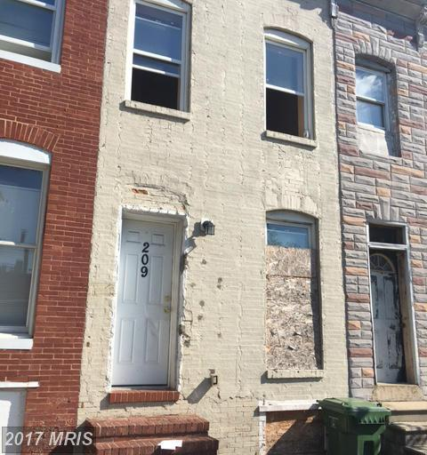 209 Monroe Street S, Baltimore, MD 21223 (#BA9793909) :: LoCoMusings