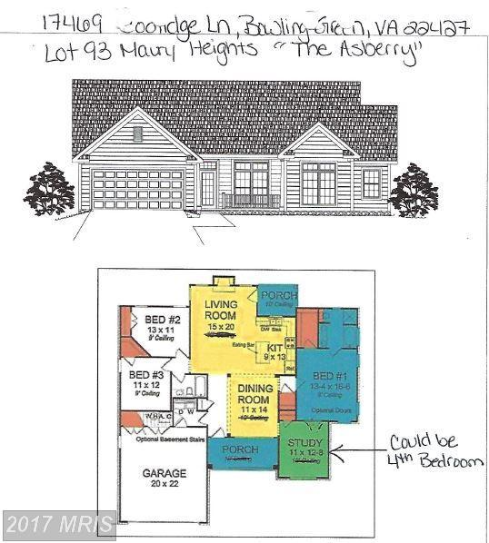 17469 Coolidge Lane The Asberry, Bowling Green, VA 22427 (#CV10093000) :: Green Tree Realty