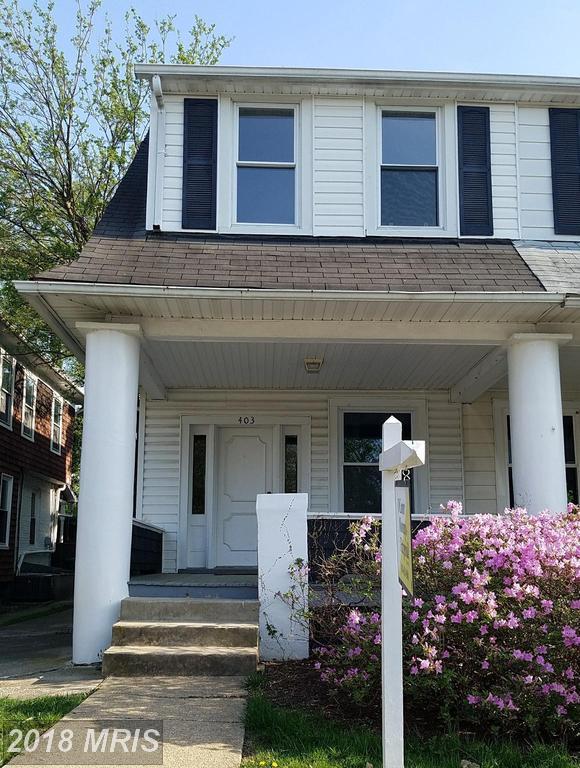 403 Charter Oak Avenue, Baltimore, MD 21212 (#BA10216840) :: Bob Lucido Team of Keller Williams Integrity