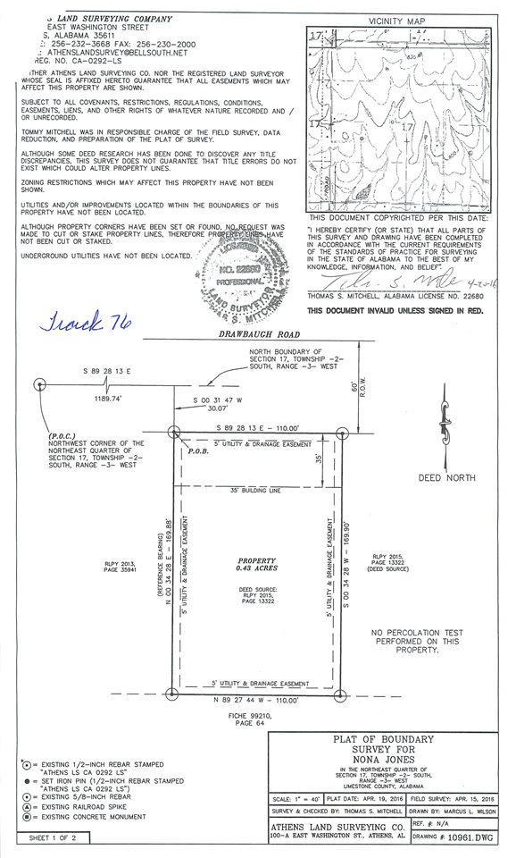 Lot 76 Drawbaugh Road, Athens, AL 35613 (MLS #1103447) :: Amanda Howard Sotheby's International Realty