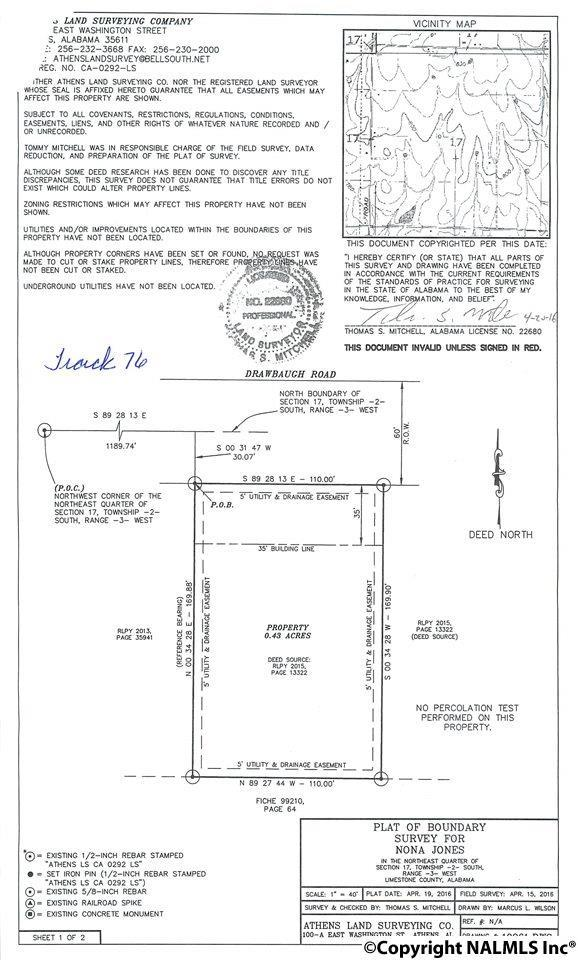 Lot 76 Drawbaugh Road, Athens, AL 35613 (MLS #1103447) :: RE/MAX Distinctive | Lowrey Team