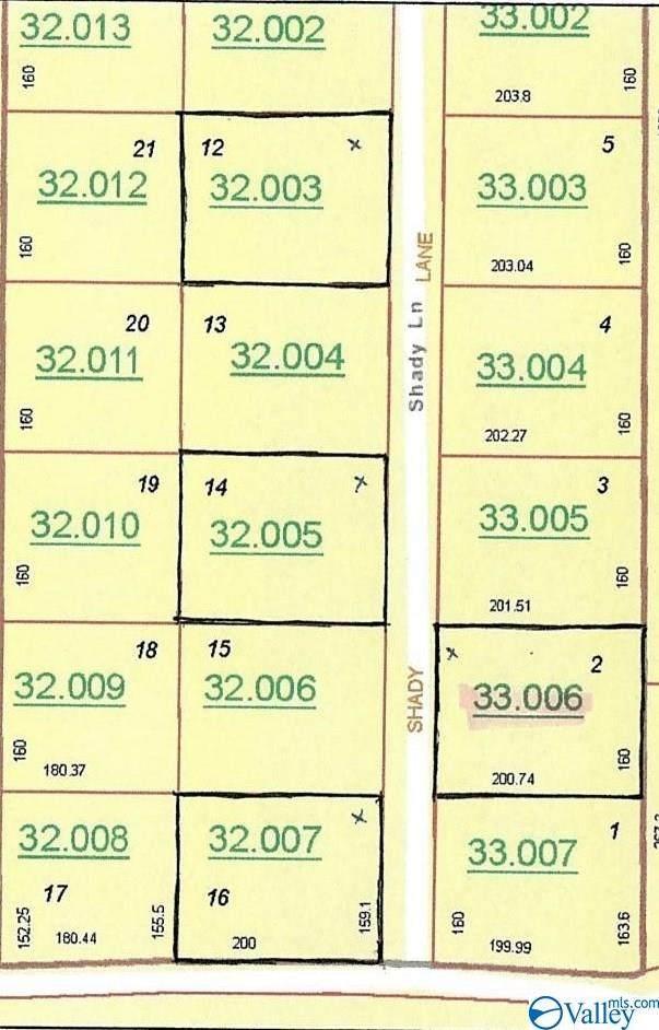 Lot 2 Shady Lane, Geraldine, AL 35974 (MLS #1787844) :: Southern Shade Realty