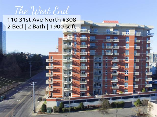 110 31St Ave N Apt 308 #308, Nashville, TN 37203 (MLS #1901748) :: The Milam Group at Fridrich & Clark Realty