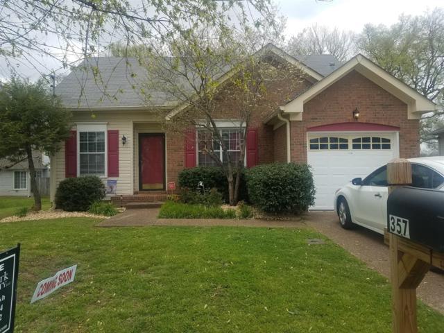 357 N Birchwood Dr, Hendersonville, TN 37075 (MLS #1921449) :: Exit Realty Music City