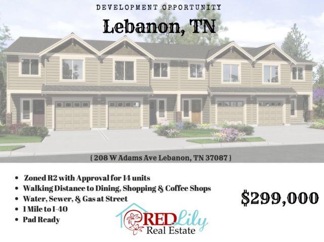 208 W Adams Ave, Lebanon, TN 37087 (MLS #1939515) :: Team Wilson Real Estate Partners