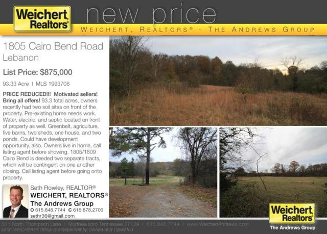 1809 Cairo Bend Rd, Lebanon, TN 37087 (MLS #2002679) :: Valerie Hunter-Kelly & the Air Assault Team