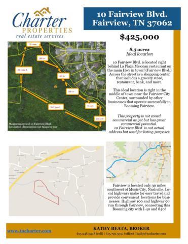 10 Fairview Blvd, Fairview, TN 37062 (MLS #2032395) :: Team Wilson Real Estate Partners