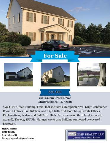 2611 Salem Creek Drive, Murfreesboro, TN 37128 (MLS #RTC2121810) :: The Milam Group at Fridrich & Clark Realty