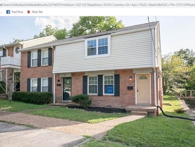 5510 Country Dr #7, Nashville, TN 37211 (MLS #RTC2301853) :: John Jones Real Estate LLC