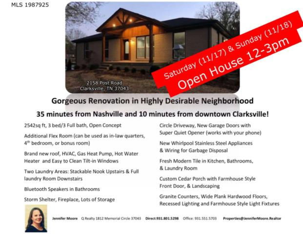 2158 Post Rd, Clarksville, TN 37043 (MLS #1987925) :: Maples Realty and Auction Co.