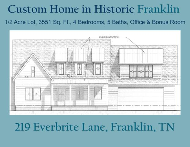 219 Everbright Ave, Franklin, TN 37064 (MLS #2009595) :: Nashville on the Move
