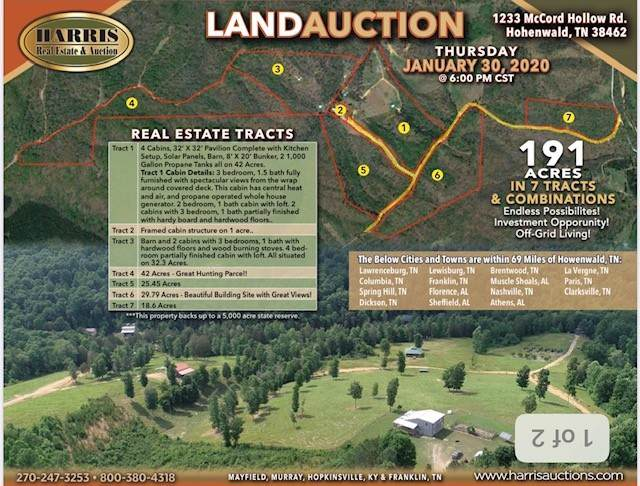 1233 Mccord Hollow Rd. Tract #2, Hohenwald, TN 38462 (MLS #RTC2111360) :: Team George Weeks Real Estate