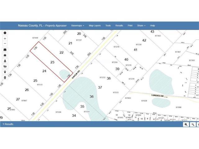 Haven Road, Yulee, FL 32097 (MLS #79445) :: Berkshire Hathaway HomeServices Chaplin Williams Realty