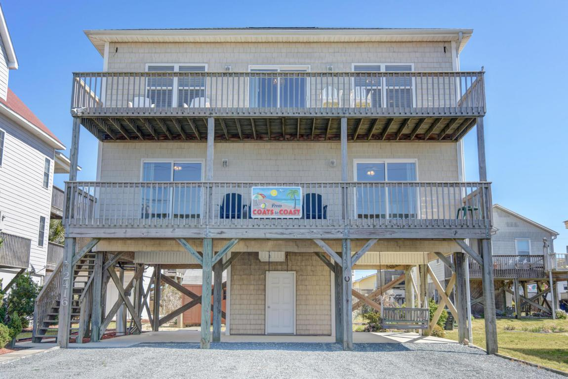 2416 Island Drive, North Topsail Beach, NC 28460 (MLS #100009636) :: Century 21 Sweyer & Associates