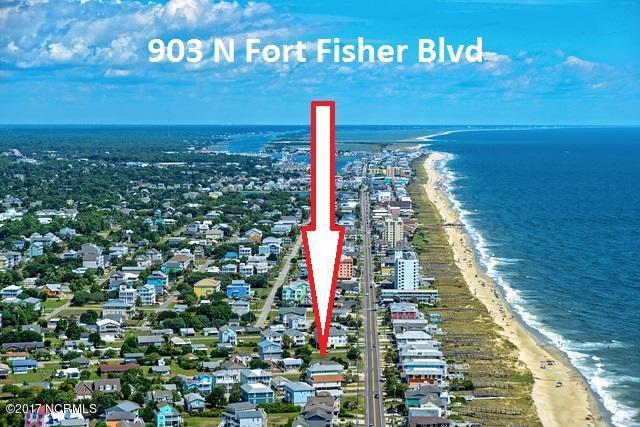 903 Fort Fisher Boulevard N, Kure Beach, NC 28449 (MLS #100113800) :: RE/MAX Essential