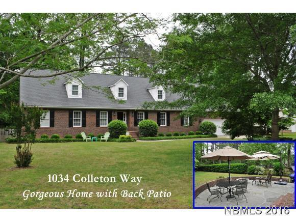 1034 Colleton Way, Trent Woods, NC 28562 (MLS #90103739) :: Century 21 Sweyer & Associates