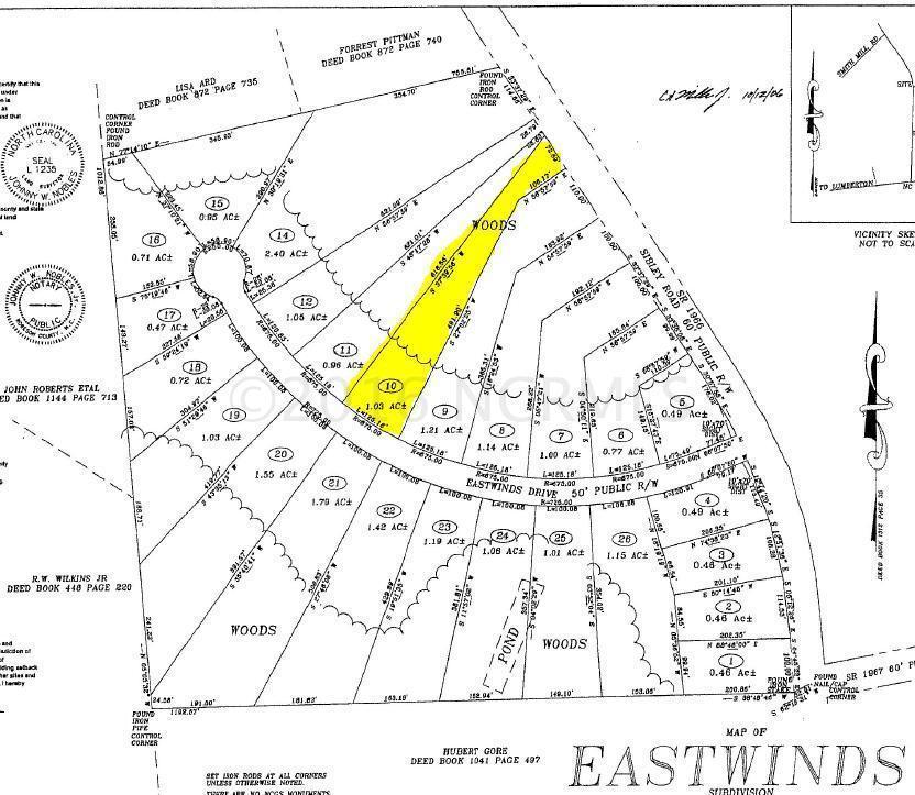 Lot 10 Eastwinds Drive, Lumberton, NC 28358 (MLS #100000628) :: Century 21 Sweyer & Associates