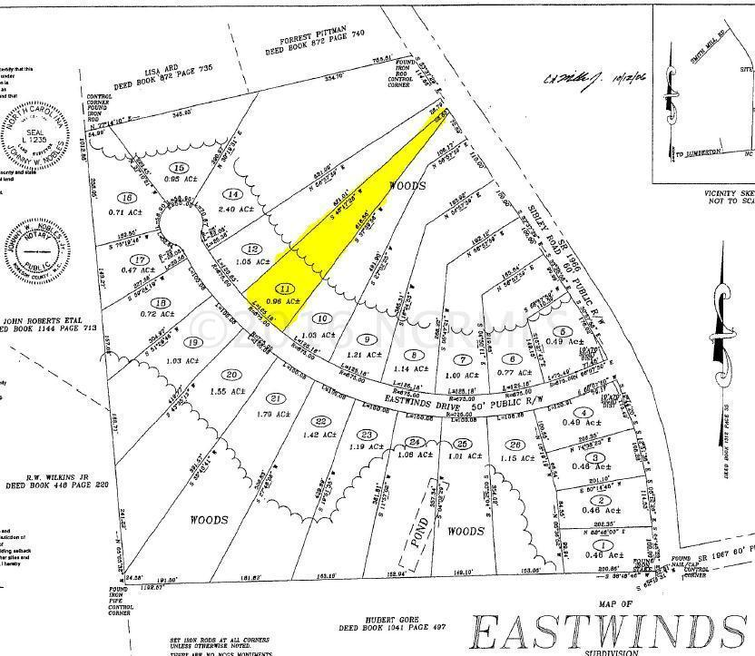 Lot 11 Eastwinds Drive, Lumberton, NC 28358 (MLS #100000634) :: Century 21 Sweyer & Associates