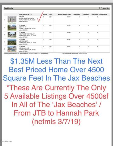 601 Valley Forge Rd N, Neptune Beach, FL 32266 (MLS #976409) :: Florida Homes Realty & Mortgage