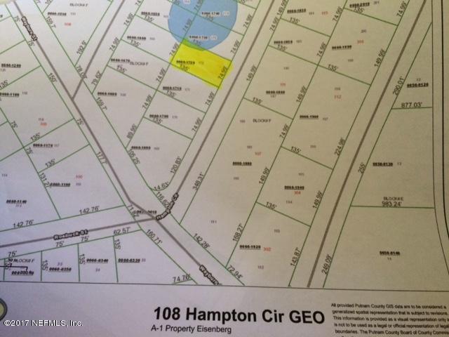 108 Hampton Cir, Georgetown, FL 32139 (MLS #898352) :: EXIT Real Estate Gallery