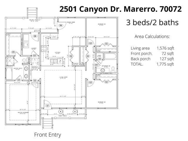 2501 Canyon Drive, Marrero, LA 70072 (MLS #2284662) :: The Puckett Team