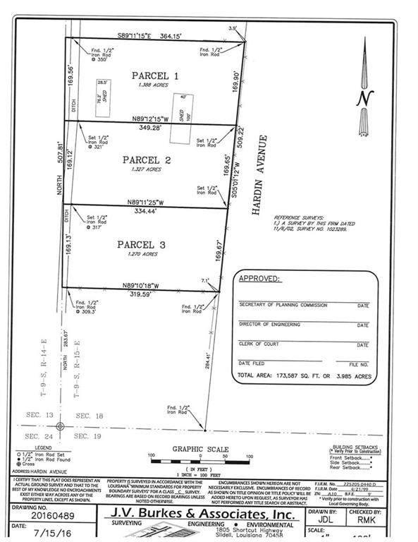 Parcel 1, 2 & 3 Hardin Road, Slidell, LA 70461 (MLS #2277672) :: Amanda Miller Realty