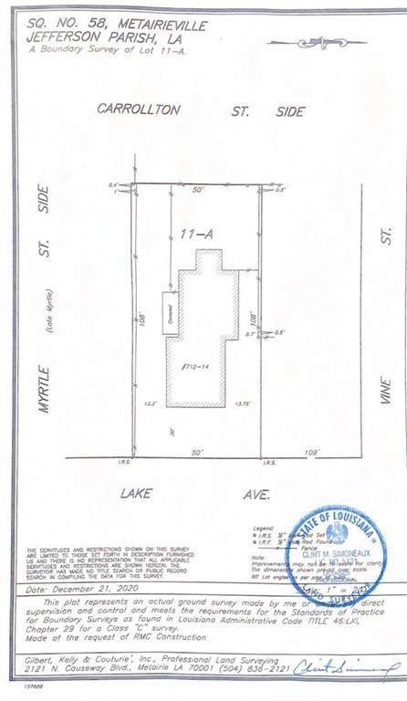 712 Lake Avenue, Metairie, LA 70005 (MLS #2298382) :: The Sibley Group