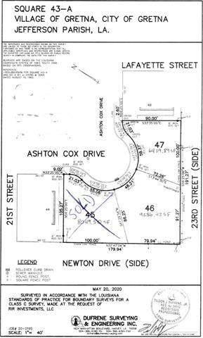 LOT 46 AND 47 Ashton Cox Dr Lot 46 And 47 Drive, Gretna, LA 70053 (MLS #2302034) :: Crescent City Living LLC