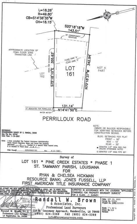 Lot 161 Perrilloux Road, Madisonville, LA 70447 (MLS #2310870) :: United Properties